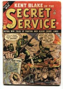 Kent Blake of The Secret Service #8 1952-Atlas-Korean war cover G/VG