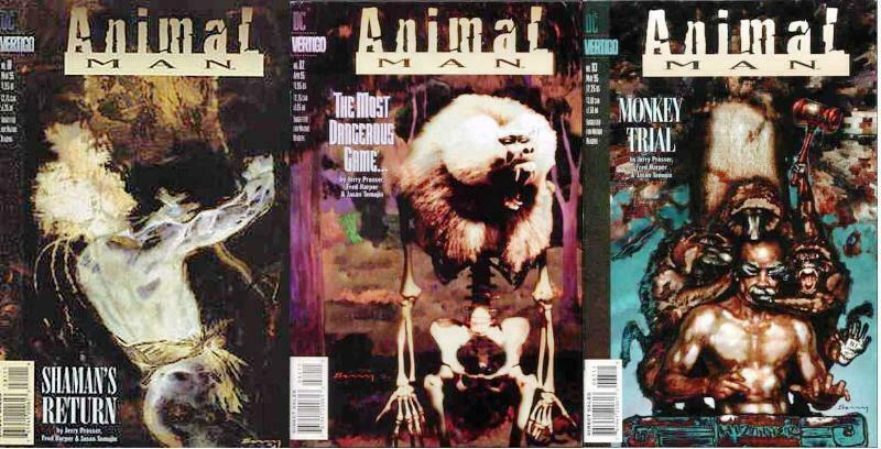 ANIMAL MAN (1988- ) 81-83  Wild Type complete story!