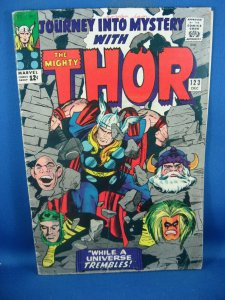 JOURNEY INTO MYSTERY 123 THOR VG+ 1965