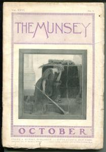 Munsey 10/1901-early pulp title-over 100 years old-buccanners piracy-VG
