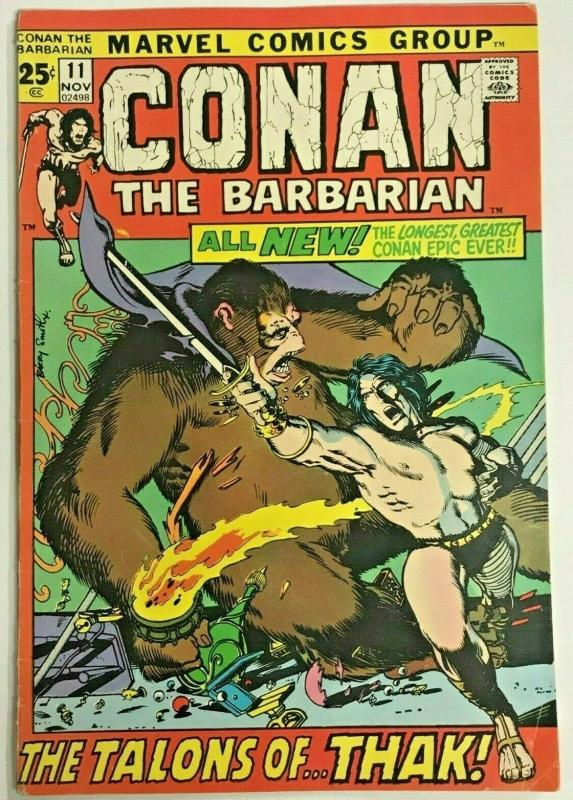 CONAN THE BARBARIAN#11 FN/VF 1971 MARVEL BRONZE AGE COMICS
