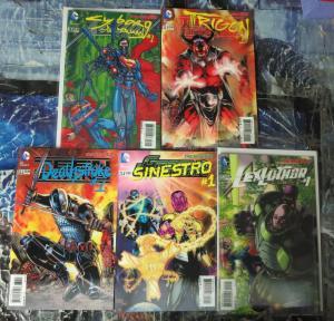 DC NEW 52 3D COVER SET! 5 books! VF-NM DEATHSTROKE, SINESTRO, CYBORG SUPERMAN,