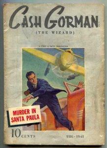 Cash Gorman-The Wizard Pulp August 1941- Murder in Santa Paula