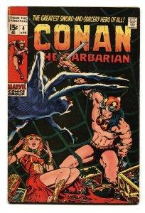 Conan The Barbarian #4 1971-Barry Smith VG Marvel