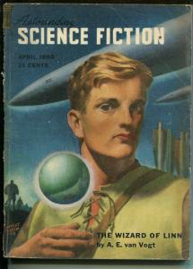 Astounding Science Fiction 4/1950-Street & Smith-L Ron Hubbard-pulp-P/FR