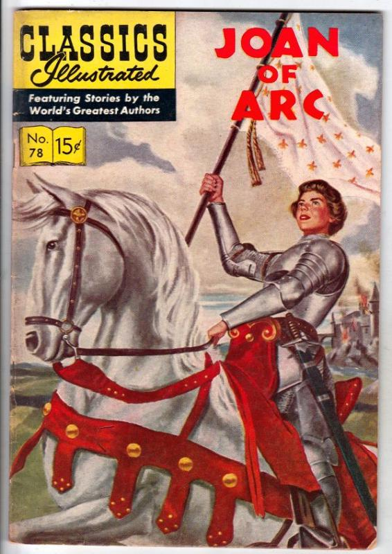 Classics Illustrated #78 (Sep-55) FN/VF+ Mid-Grade Joan of Arc