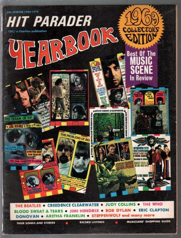 Hit Parader Yearbook-Winter 1969-Beatles-Who-CCR-Donovan-Dylan-Hendrix-VG/FN
