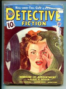 FLYNN'S DETECTIVE FICTION-DEC 1943-MYSTERY-PULP-SNAKE-HORROR-good minus