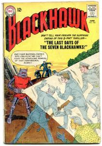 BLACKHAWK #185 1963-DC COMICS-DIMENSIONAL ALIEN COVER G/VG