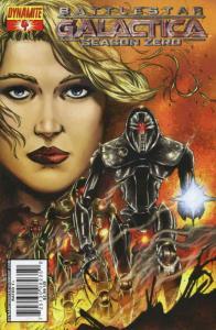 Battlestar Galactica Season Zero #4B VF/NM; Dynamite   save on shipping - detail