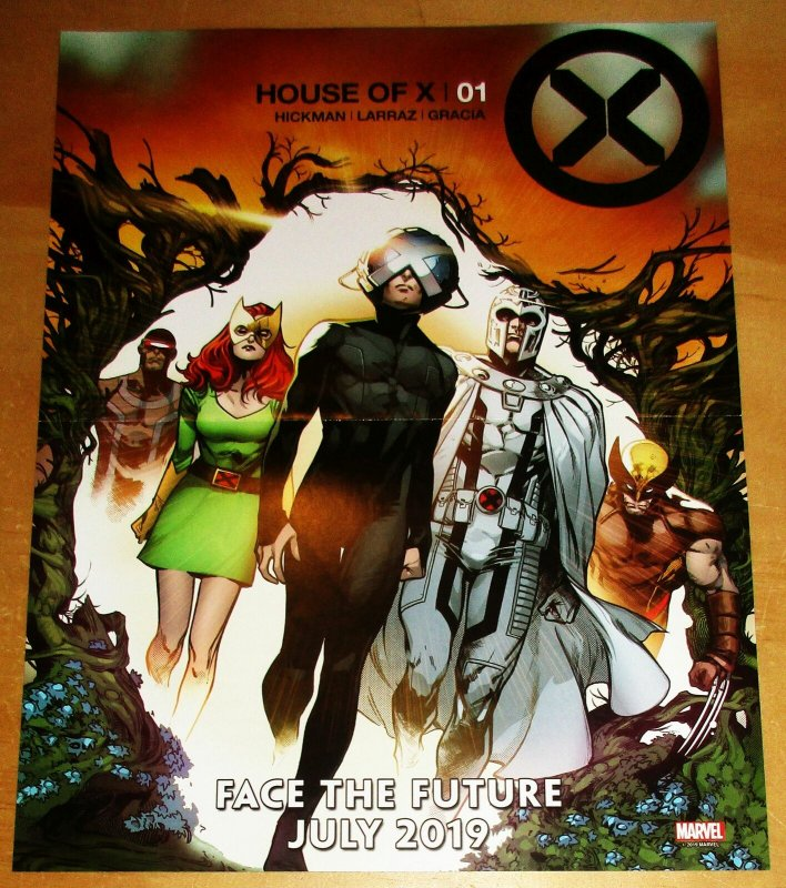 House Of X Folded Mini Promo Poster 10 x 13 (Marvel, 2019) New!