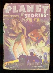 PLANET STORIES-FALL 1945-PARKHURST COVER-GRAHAM INGLES  P/FR