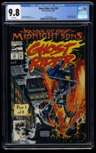 Ghost Rider (1990) #28 CGC NM/M 9.8 White Pages 1st Midnight Sons!