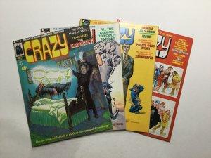 Crazy Magazine 6-12 Magazine Lot Very Fine Vf 8.0 Marvel
