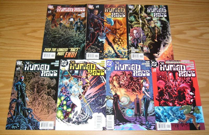 the Human Race #1-7 VF/NM complete series - ben raab/justiniano - dc comics set