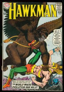 HAWKMAN #6 1965-DC COMICS-EVOLUTION RUNS WILD ANDERSON VG/FN