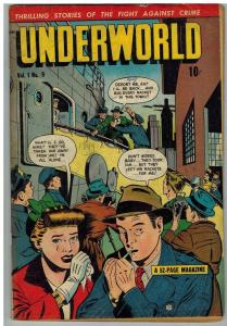 UNDERWORLD 9 GOOD July 1949 True Crime Stories COMICS BOOK