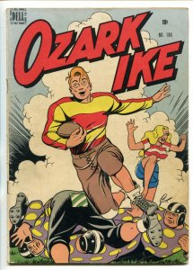 OZARK IKE #180 1948-DELL FOUR COLOR-HEADLIGHT COVER-BASEBALL-RAY GOTTO ART-vg