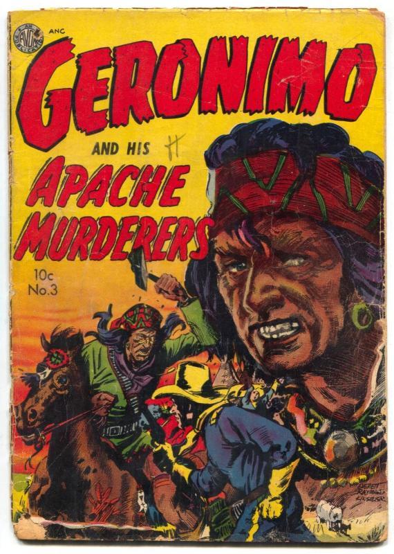 Geronimo #3 1951- Avon Western- Everett Raymond Kinstler- G-
