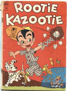 ROOTIE KAZOOTIE #415--DELL FOUR COLOR--FIRST ISSUE-BASEBALL GAME COVER-1952-RARE