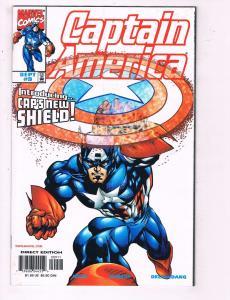 Captain America #9 VF Marvel Comics New Shield Comic Book 1998 DE11