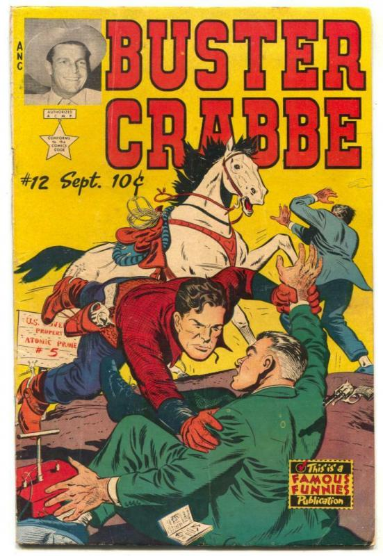 Buster Crabbe #12 1953- Famous Funnies- Final issue- Atomic Testing VG