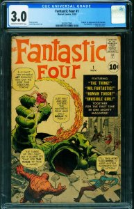 FANTASTIC FOUR #1-CGC 3.0-First issue-Marvel Key-comic book 2023517001