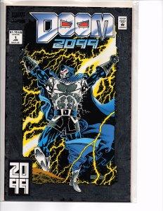 Marvel Comics Doom 2099 #1 Foil Stamped Cover Pat Broderick Art
