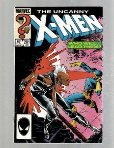 Uncanny X-Men # 201 VF/NM Marvel Comic Book Beast Angel Cyclops Magneto SM19