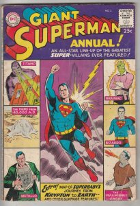 Superman Giant Annual #2 (Jan-60) FN Mid-Grade Superman, Jimmy Olsen,Lois Lan...