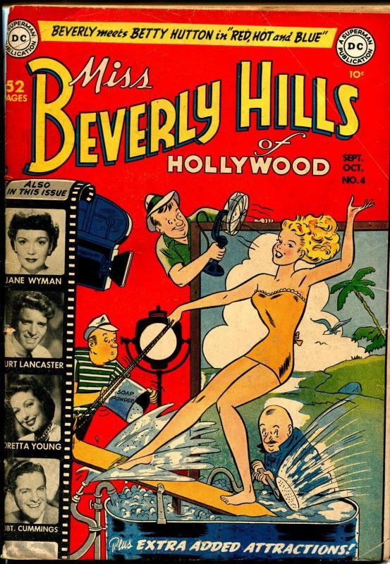 Miss Beverly Hills of Hollywood #4 1949-DC-swimsuit-Ray Milland-Jane Wyman-VG