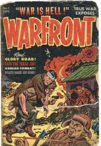 WARFRONT #1-1951-KOREA & WW II BATTLE STORIES-PRE CODE VIOLENCE