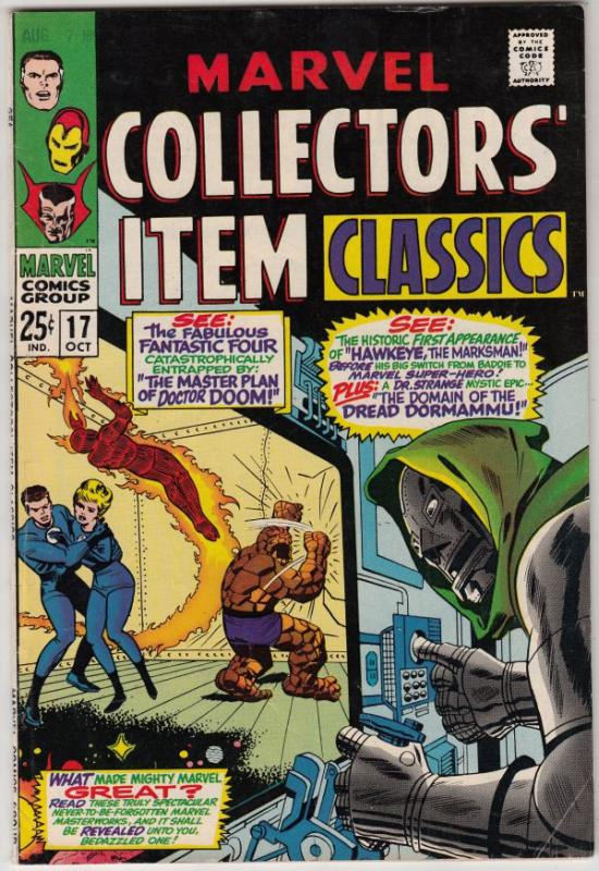 Marvel Collectors' Item #17 (Oct-68) FN/VF+ High-Grade Fantastic Four, Mr. Fa...