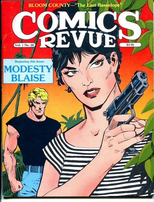 Comics Revue #26-Modesty Blaise-Steve Canyon-Bloom County-Dick Giordano-VF