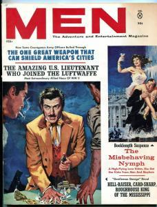 Men Magazine February 1962-NYMPHS-GAMBLING-WWII-LUFTWAFFE-NAZI-RUSSIA FN