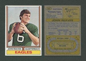 1974 Topps Football / John Reaves #322 / NM-MT