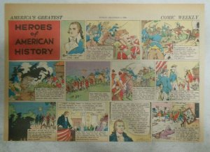 Heroes of American of History by N Afonsky from 12/6/1936 Size: 11 x 15 inches