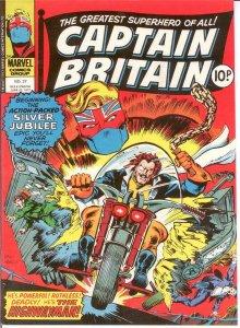 CAPTAIN BRITAIN (1976) 37 VERY FINE MERLIN SAGA CONCLUD