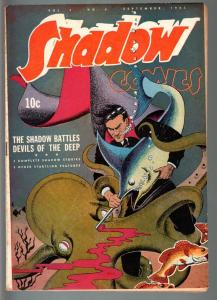 SHADOW COMICS V.3 #6-1943-octopus COVER-GOLDEN AGE-VF minus VF-