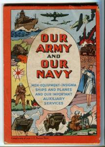 OUR ARMY AND NAVY 1942-JC PENNEY PROMO BOOK-WWII-TOM HICKEY COMIC ART-g/vg