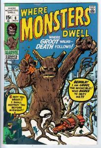 Where Monsters Dwell #6 (Nov-70) VF/NM High-Grade Sporr