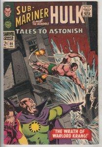 Tales to Astonish #86 (Dec-66) VF/NM High-Grade Incredible Hulk, Namor the Su...