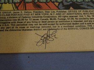 The Avengers #191 Marvel Comic Book Grey Gargoyle Signed by John Byrne L@@K