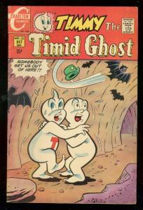 TIMMY THE TIMID GHOST #12 1969-CHARLTON COMICS-BATS !! FN