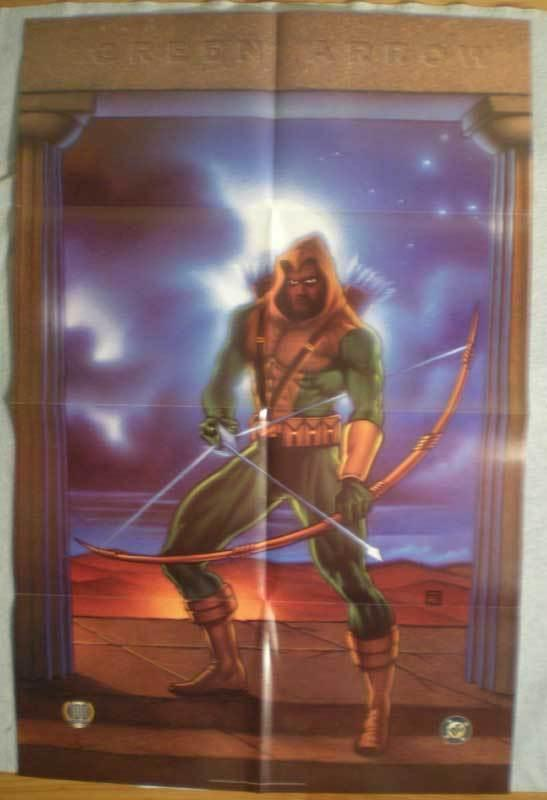 GREEN ARROW Promo poster, 22 x 34, 1995, Unused, more in our store