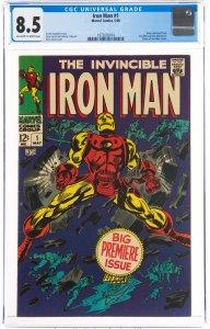 Iron Man #1 (Marvel, 1968) CGC Graded 8.5