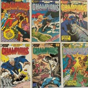 Champions set:#1-6 8.5 VF+ (1986-87)