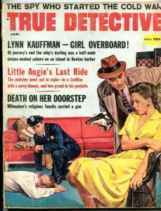 True Detective Magazine January 1960- Lynn Kauffman- Cold War -fair