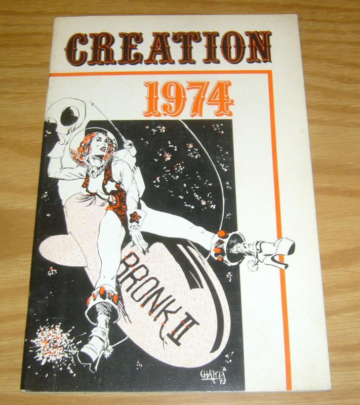 Creation Program Guide 1974 FN howard chaykin - bernie wrightson - brunner PCR