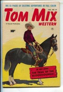 Tom Mix Western #37 1950-Fawcett-Tom on Tony photo cover-Carl Pfeufer story a...